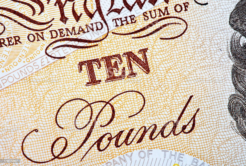 Ten Pounds stock photo