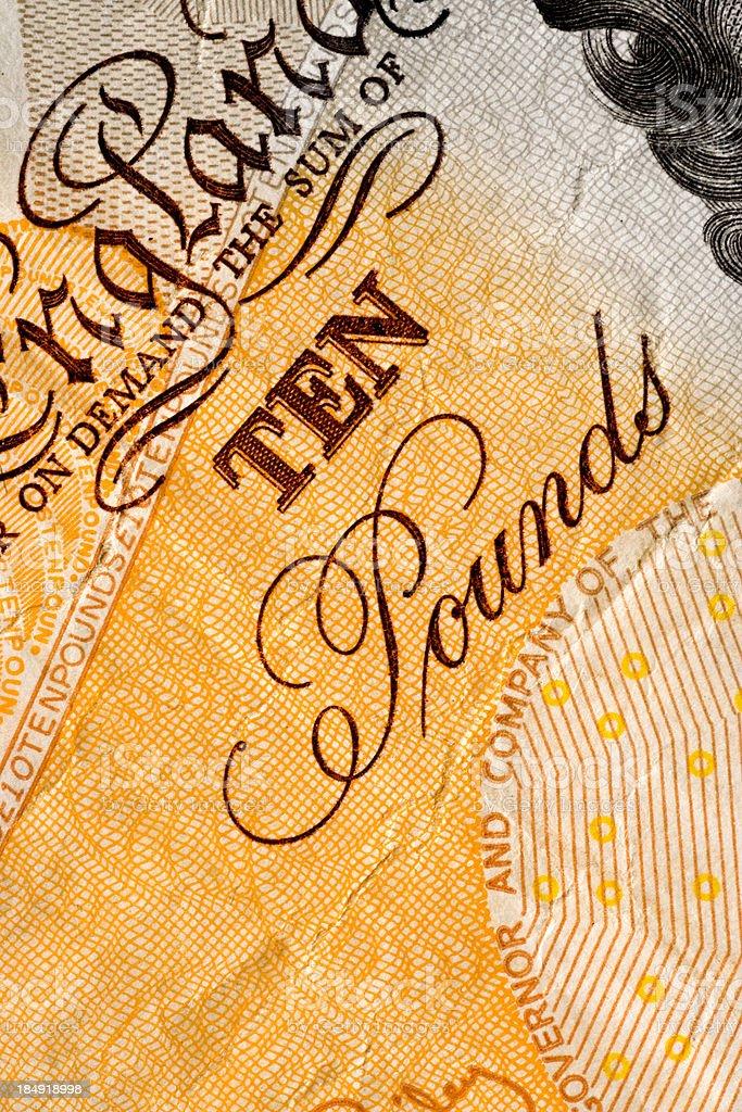 Ten Pounds royalty-free stock photo