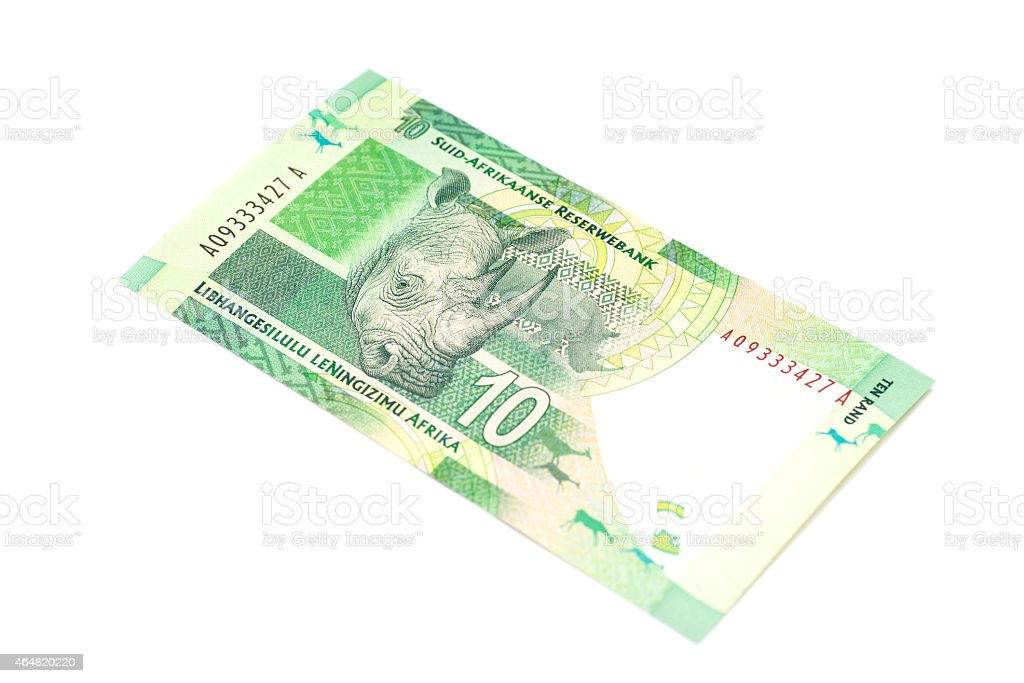 Ten South African Rand isolated stock photo