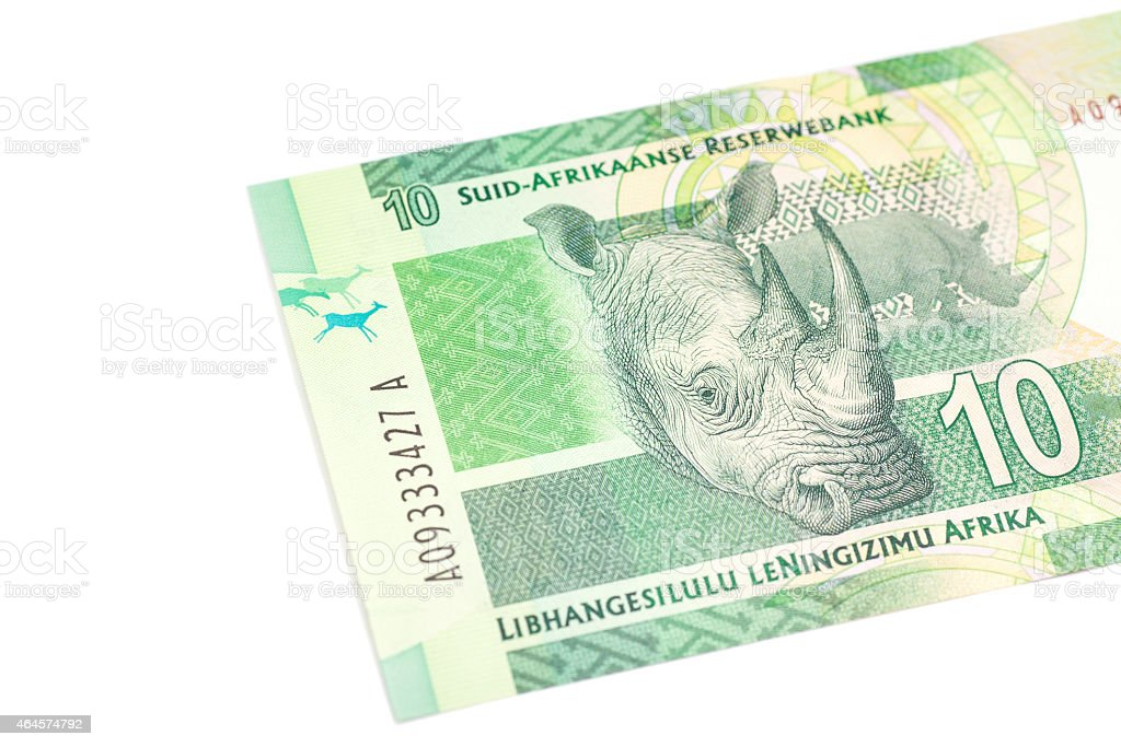 Ten South African Rand stock photo