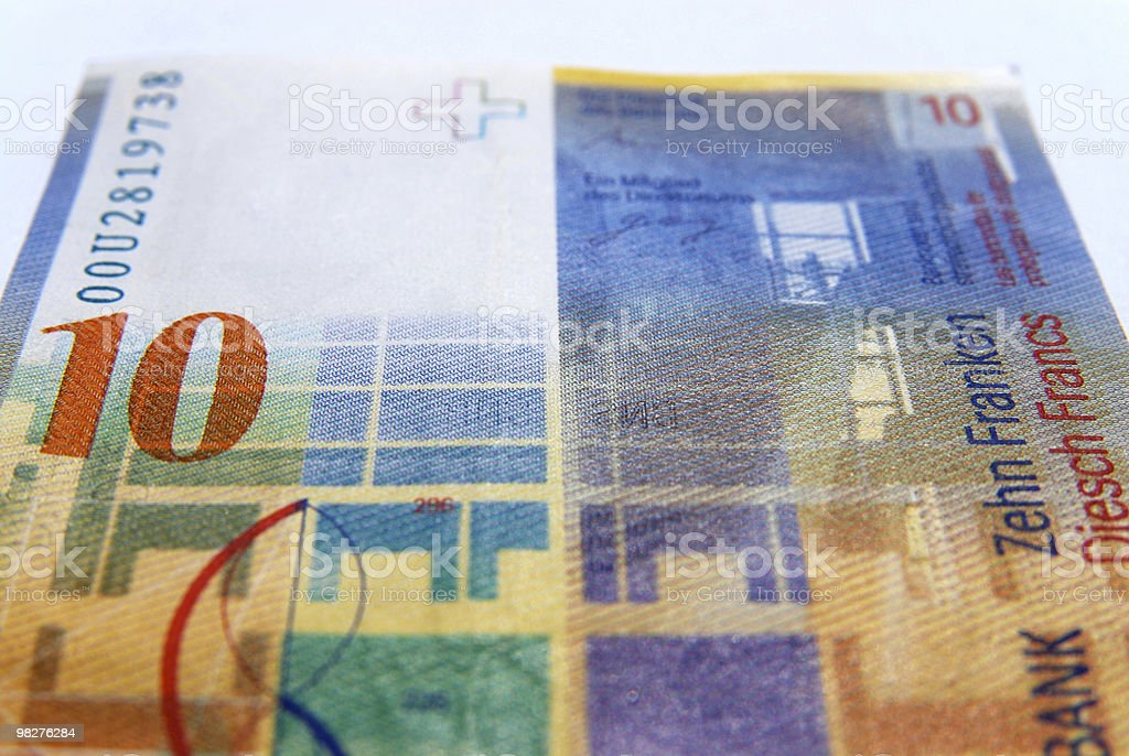 Ten swiss francs currency royalty-free stock photo