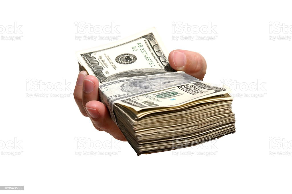 Ten Thousand Dollars! stock photo