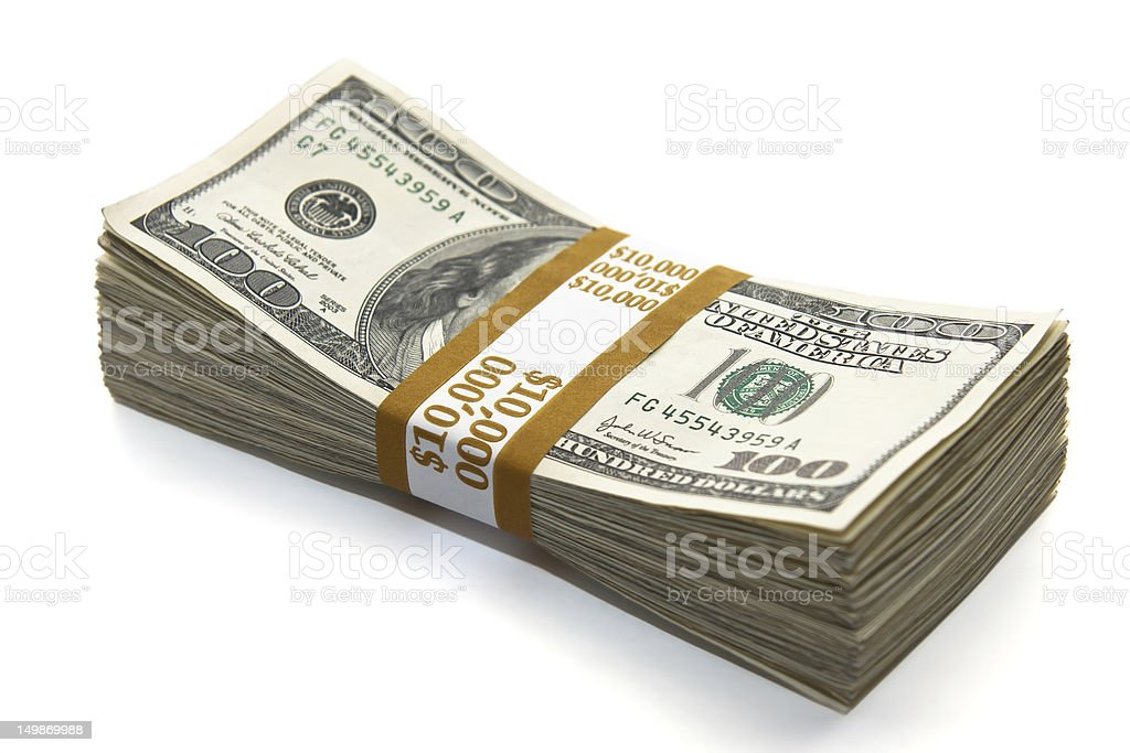 ten thousand dollars stock photo