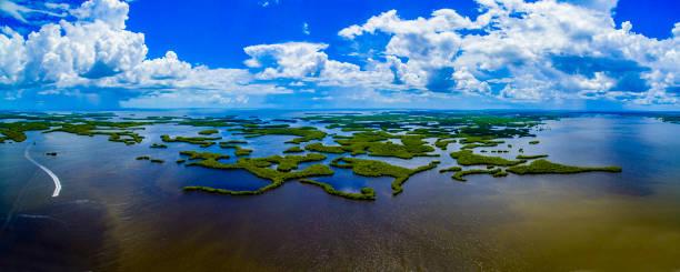 Ten Thousand Islands National Park Panoramic,Florida stock photo