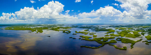 Ten Thousand Islands NP Aerial, FL stock photo