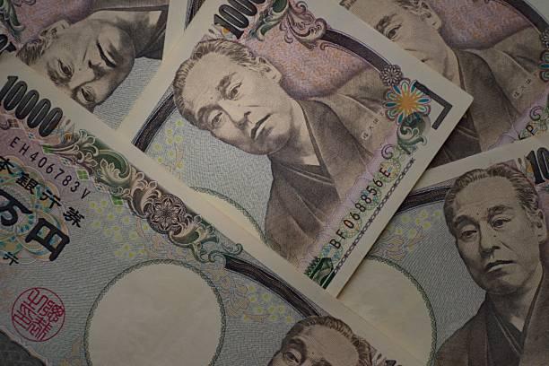 ten thousands japanese yen bills - 日本銀行 ストックフォトと画像