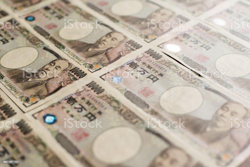 Zehntausend Yen Rechnungen Lizenzfreies stock-foto