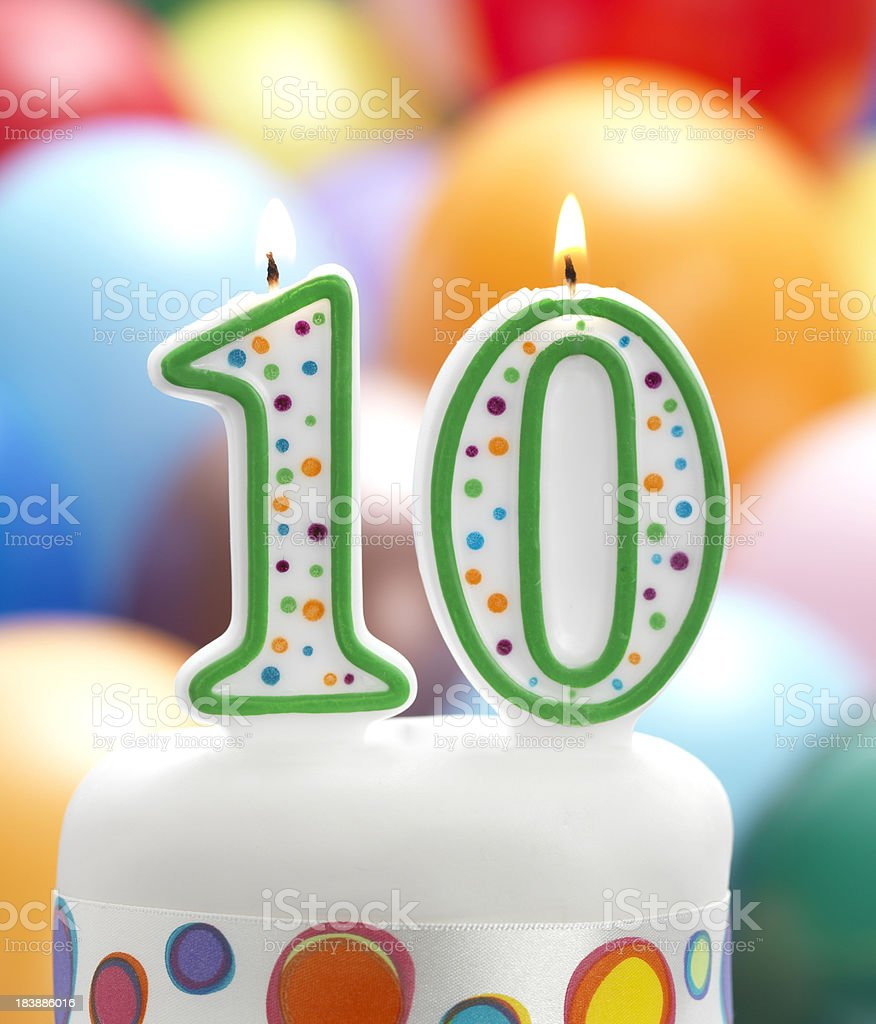 Ten today royalty-free stock photo