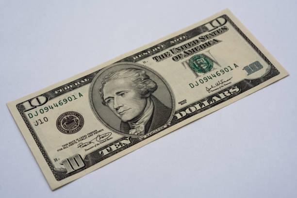 zehn US-Dollar-Note – Foto