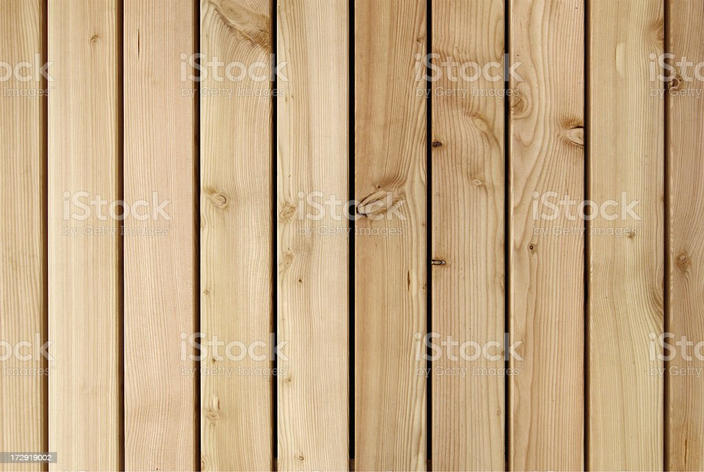Ten wooden planks ranging from light to dark shades royalty-free stock photo