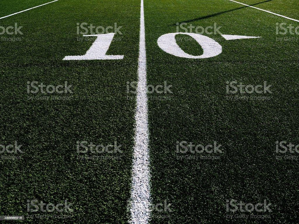 Ten yard line football field.