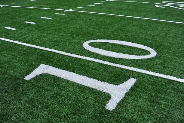 ten yard line - farbfeldmalerei stock-fotos und bilder