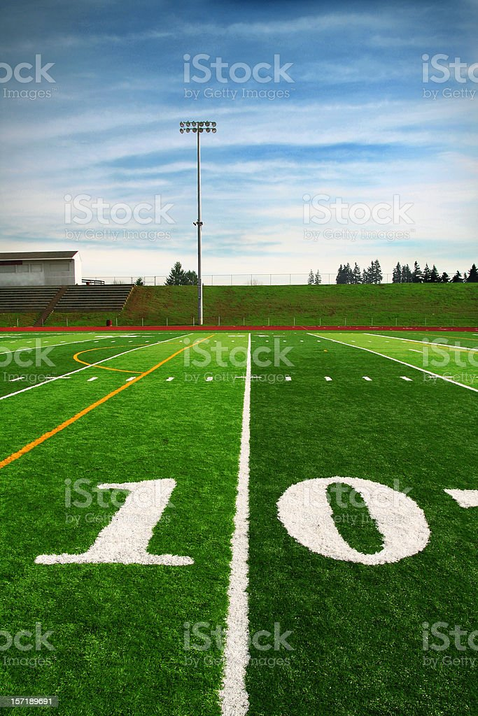 ten yard line royalty-free stock photo