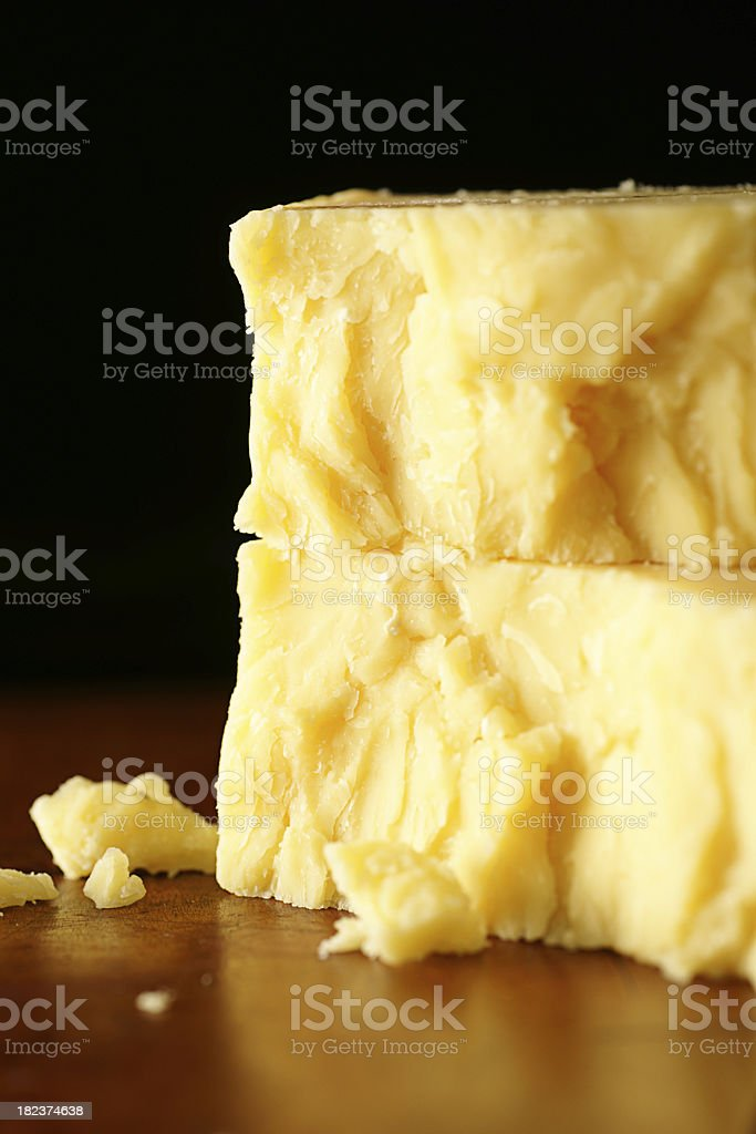 Ten Years Old Aged Cheddar stock photo