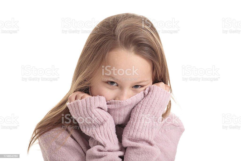 ten years old girl stock photo