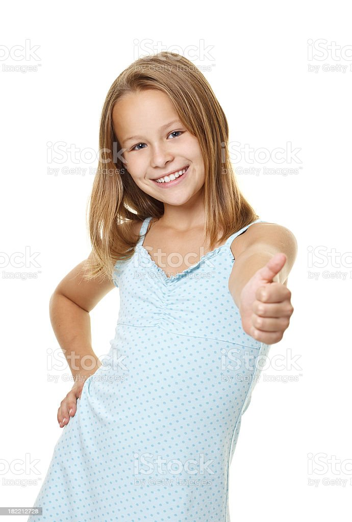 ten years old girl royalty-free stock photo