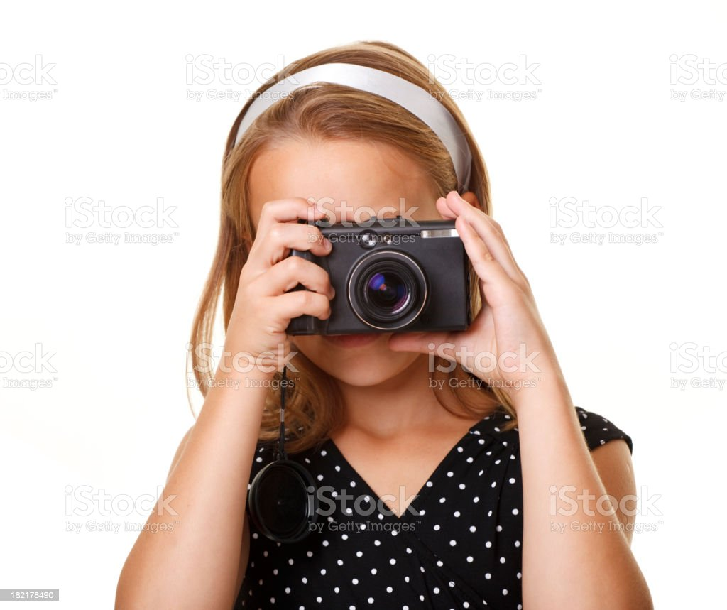 ten years old photographer royalty-free stock photo