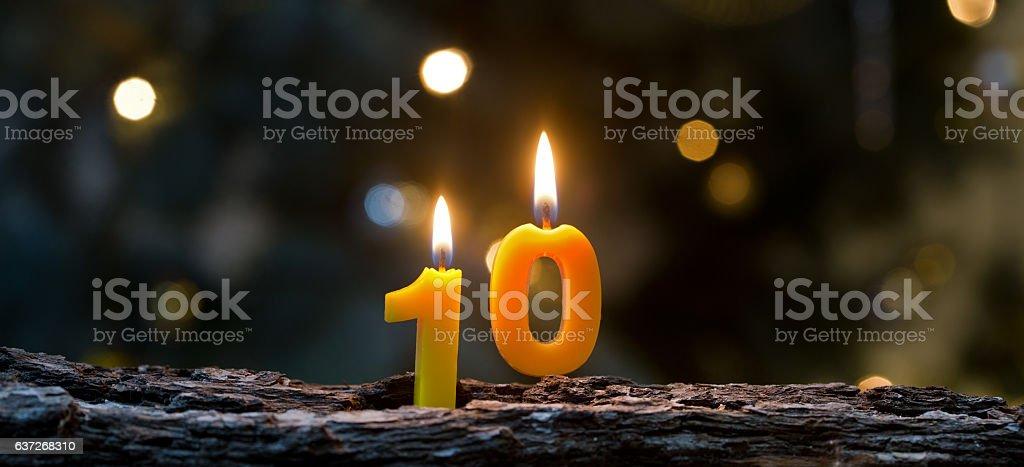 Ten years stock photo