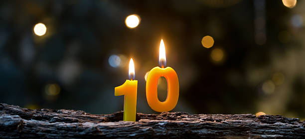 ten years - number 10 stock photos and pictures