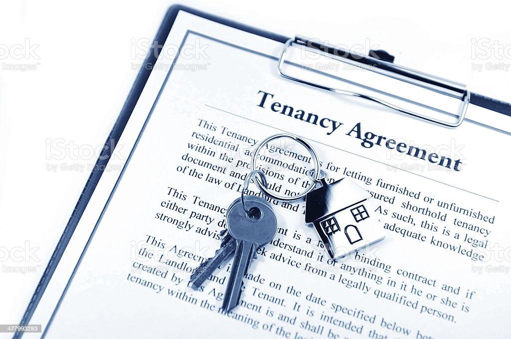 Tenancy agreement stock photo