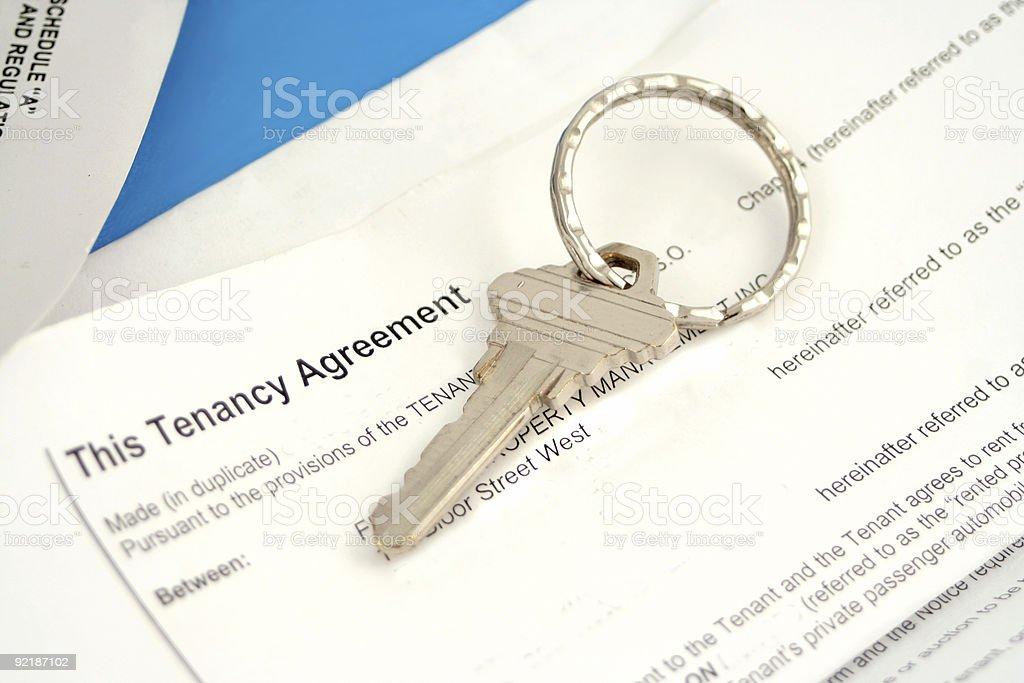 tenant agreement stock photo