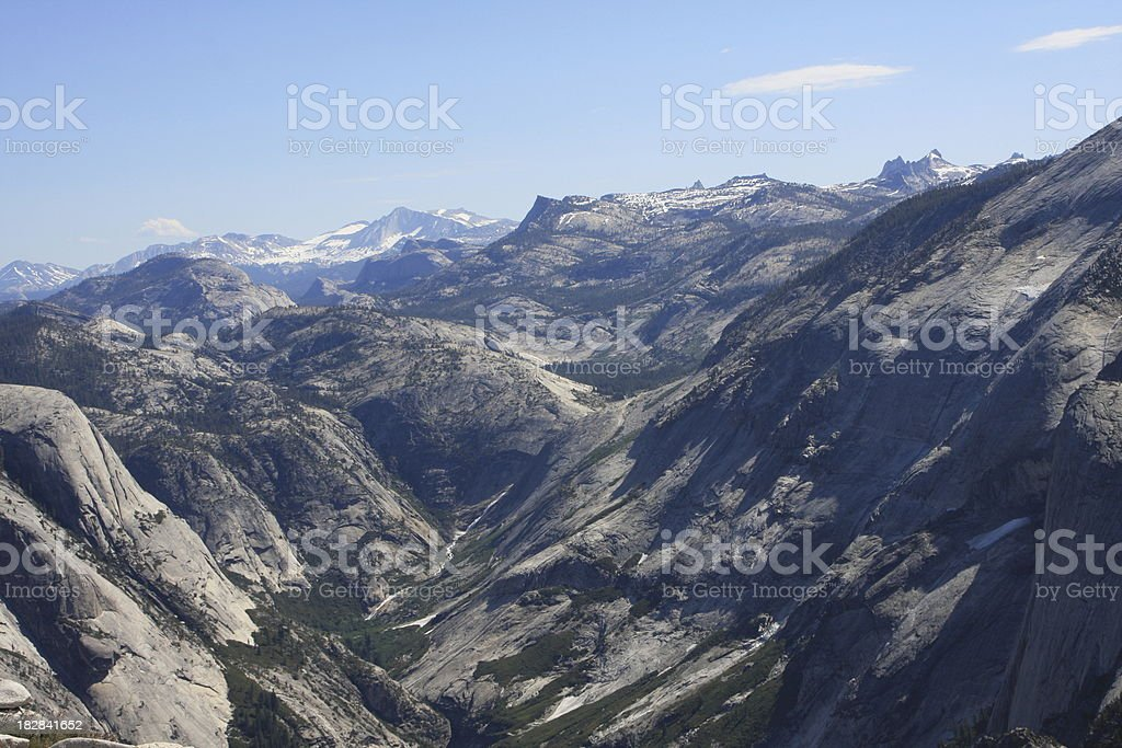 Tenaya Canyon in Yosemite National Park stock photo