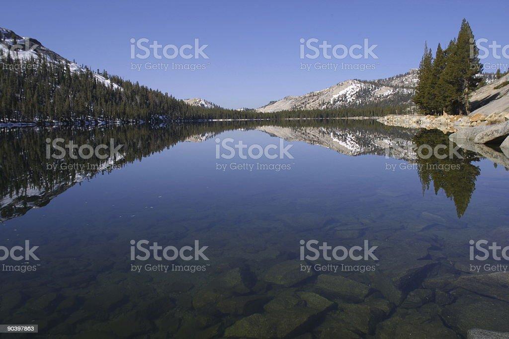 Tenaya Lake Tranquility stock photo