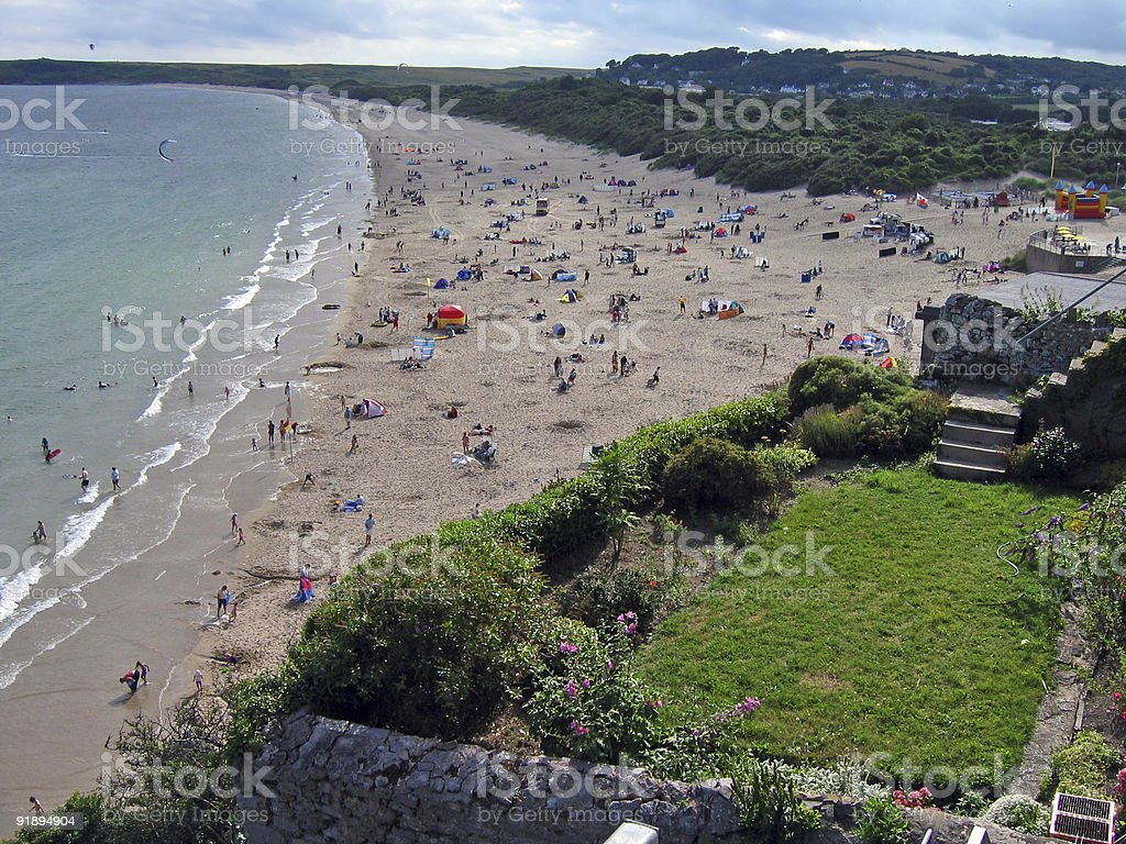 tenby south beach royalty-free stock photo
