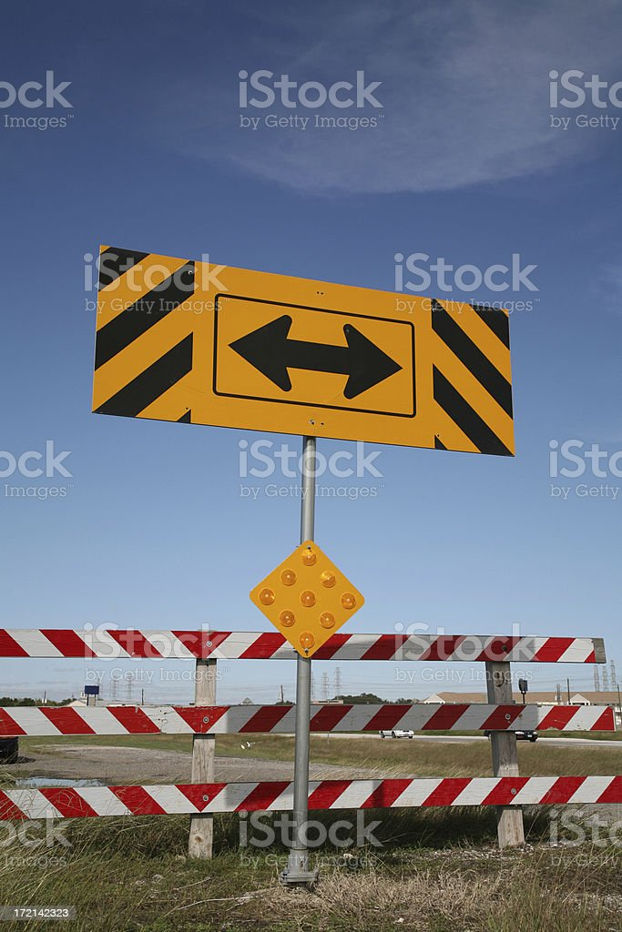 t-end traffic sign royalty-free stock photo
