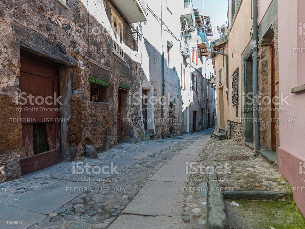 Tende (France, Alpes Maritimes): in the Old Town stock photo