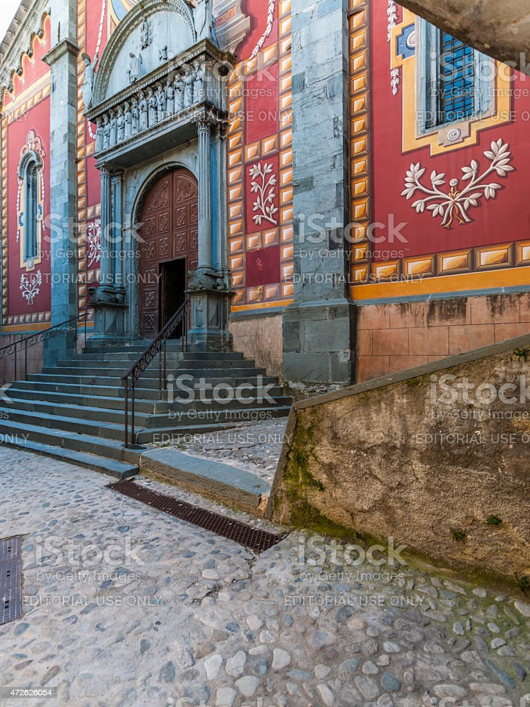 Tende (France, Alpes Maritimes): the cathedral in the Old Town stock photo