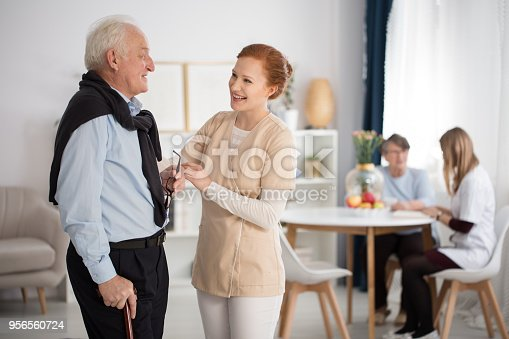 istock Tender attention of medical staff 956560724
