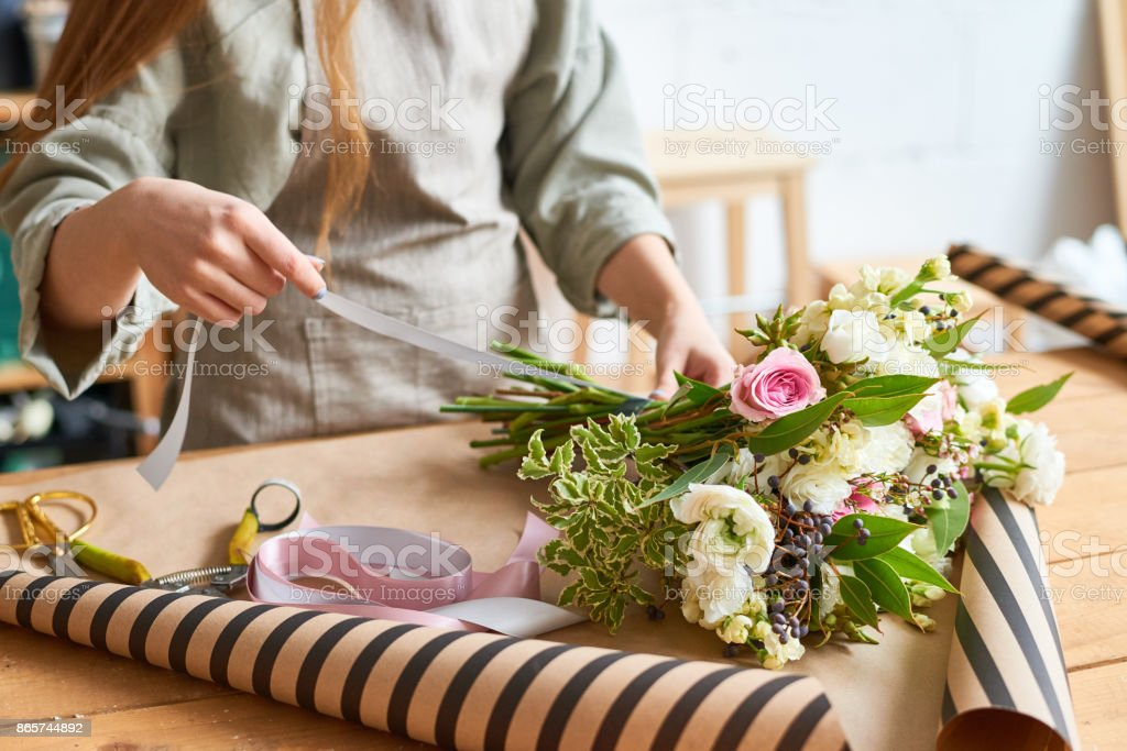 Tender bouquet for special occasion stock photo