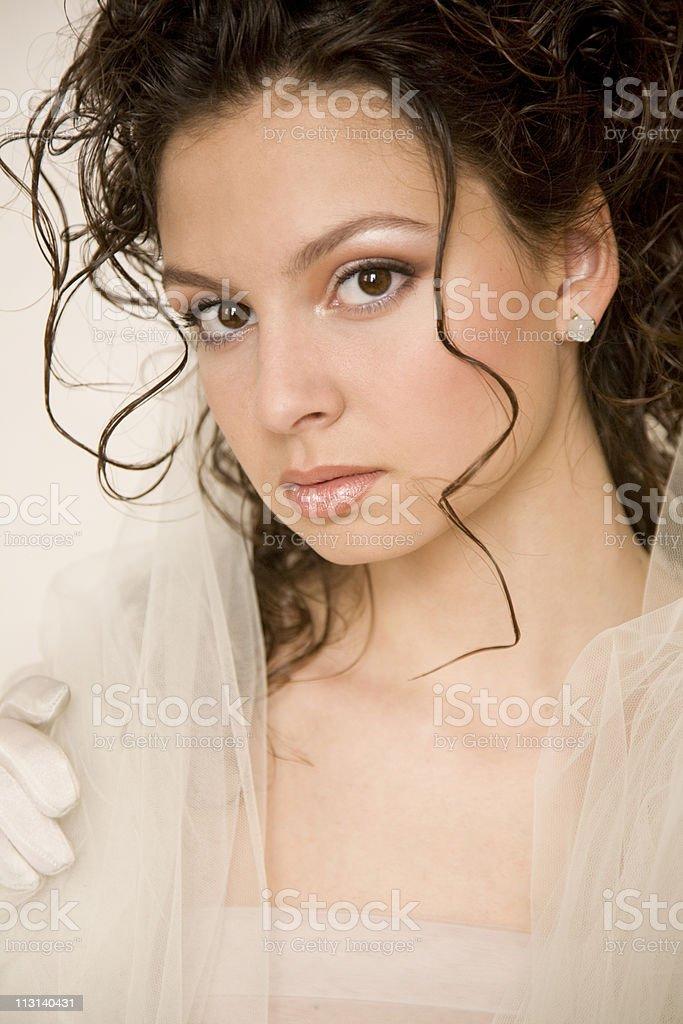 Tender bride royalty-free stock photo