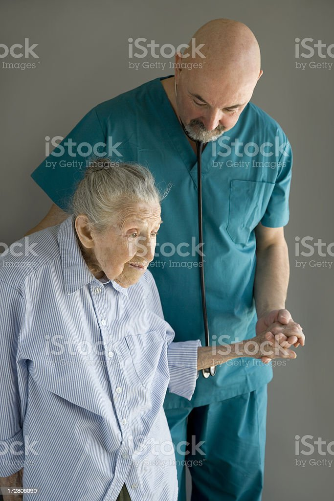 Tender care royalty-free stock photo