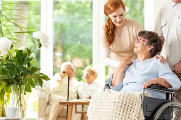 Tender caregiver saying goodbye to an elderly pensioner in a in a picture id1004109264?b=1&k=6&m=1004109264&s=612x612&w=0&h=eac5e xn wudepu013myxwkdx0d3c2n7v16bijujao0=