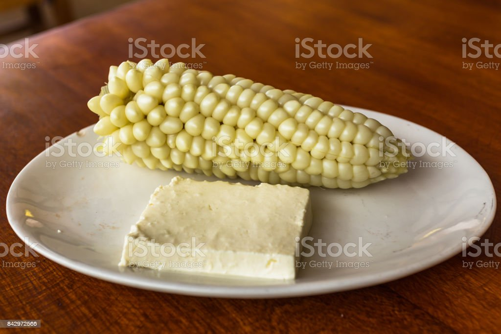 Tender corn cooked stock photo