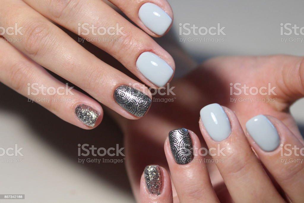 Manicure Diseño Tierno Para Uñas Largas Foto De Stock Y Más