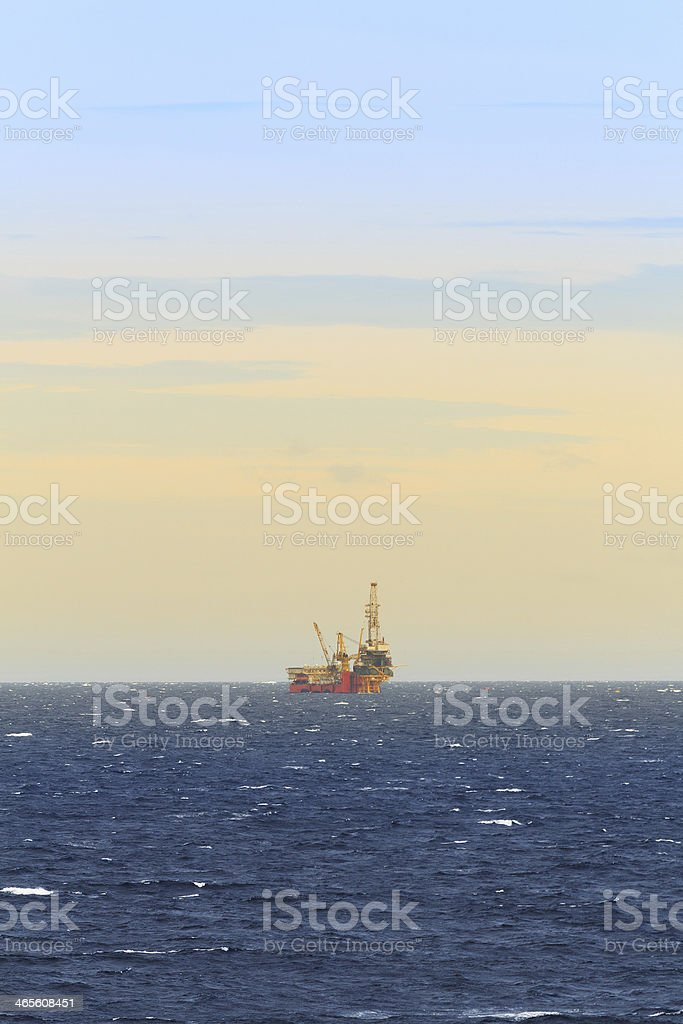 Tender Drilling Oil Rig In The Ocean royalty-free stock photo