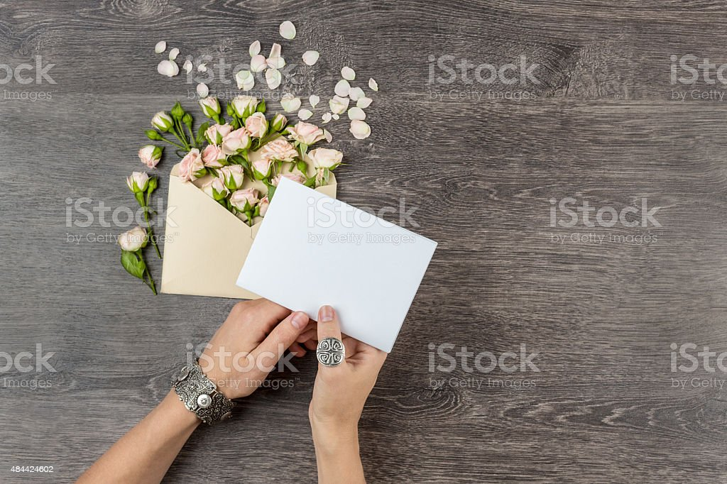 Tender love message stock photo