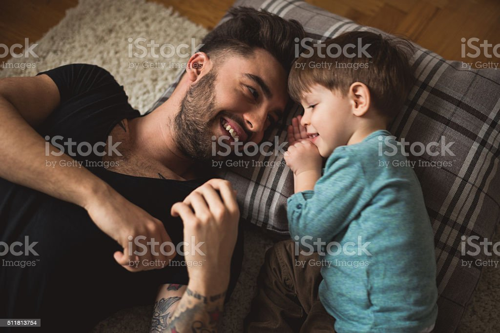 Tender moments stock photo