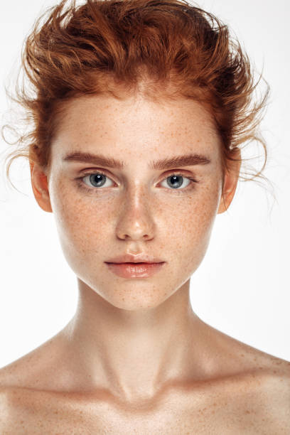 Tender portrait of a girl Tender portrait of a girl redhead stock pictures, royalty-free photos & images