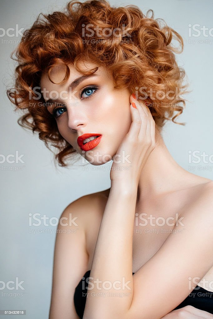 Tender portrait of a girl stock photo