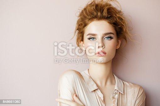 istock Tender portrait of a girl 848661080