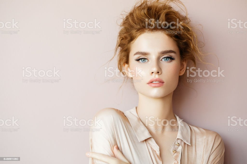 Tender portrait of a girl - foto stock
