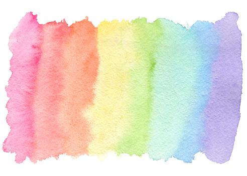 istock Tender rainbow colors watercolor blob 1068515430