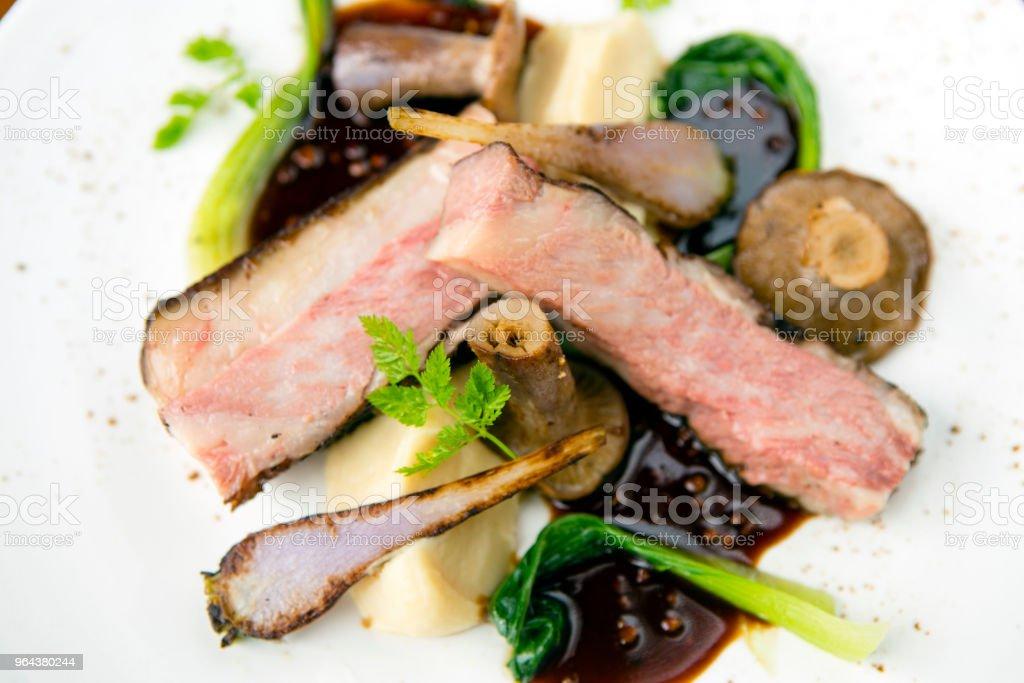 Filé de carne Wagyu grelhada macia - Foto de stock de Alimentação Saudável royalty-free