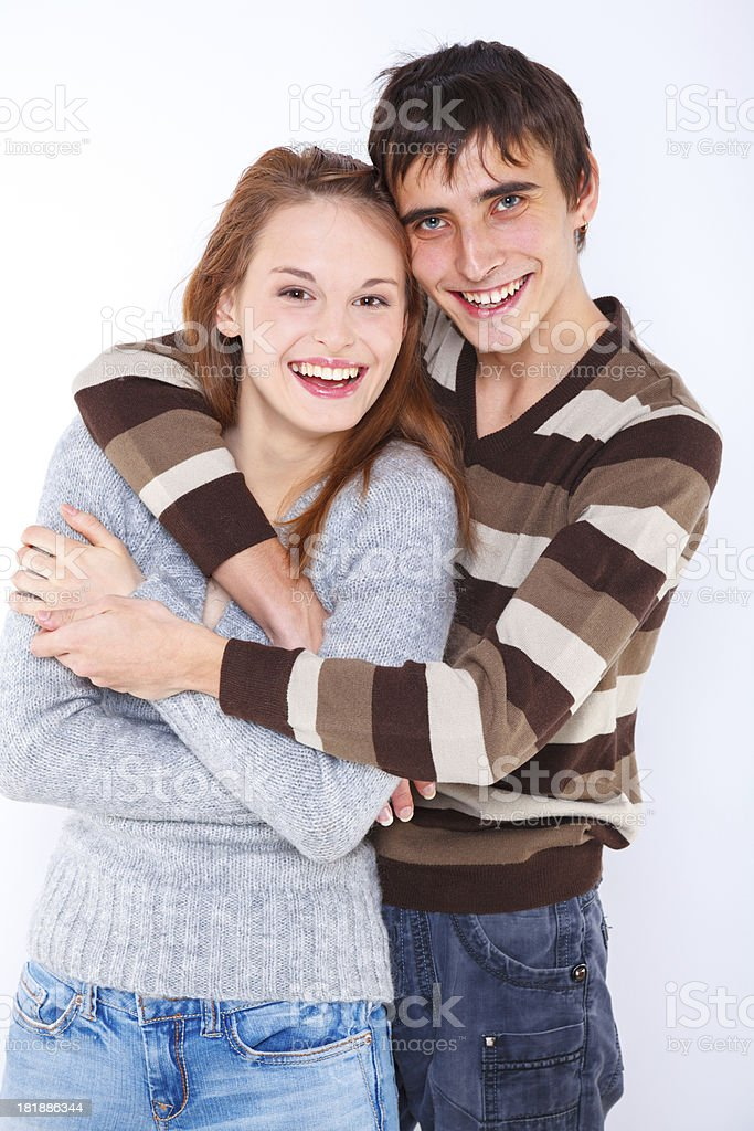 Tender young couple royalty-free stock photo