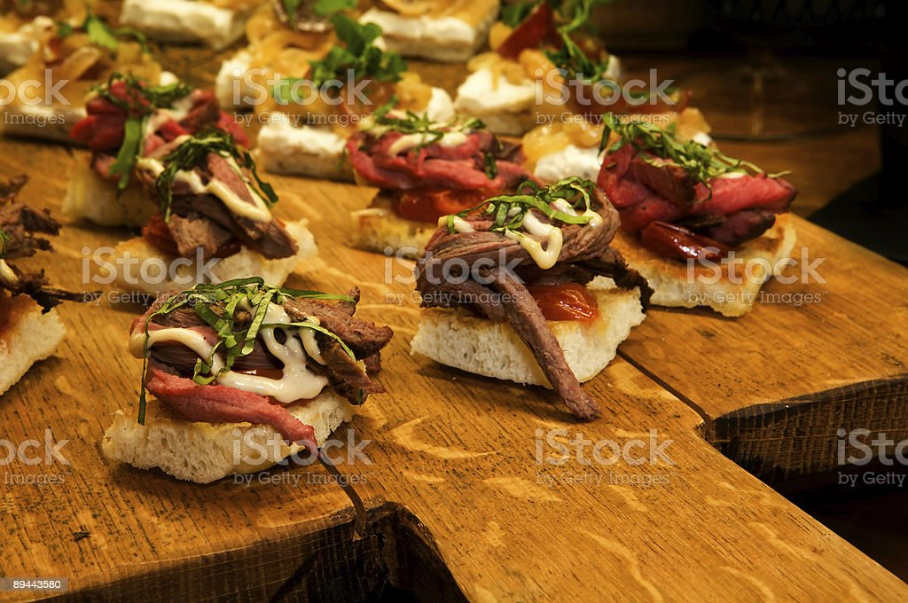 Tenderloin appetizers royalty-free stock photo