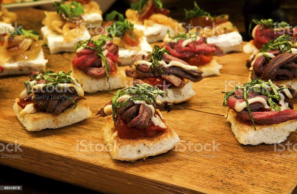 Tenderloin on Focaccia stock photo